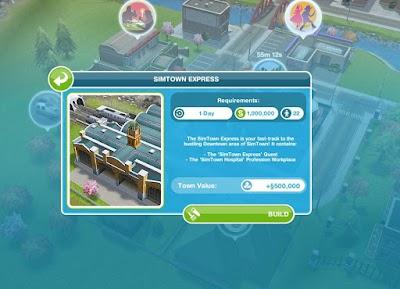 Simtown Express - Sims FreePlay