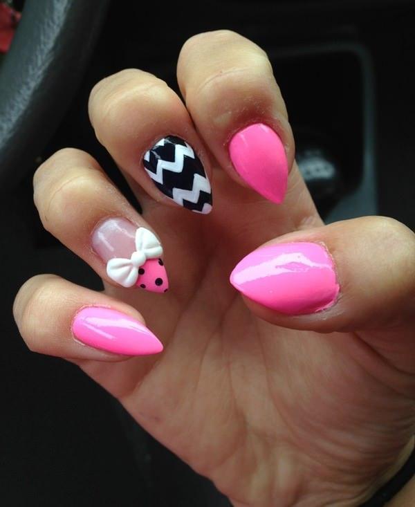 cute nail designs creem (5)