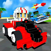 Super Block Kart Racing Game