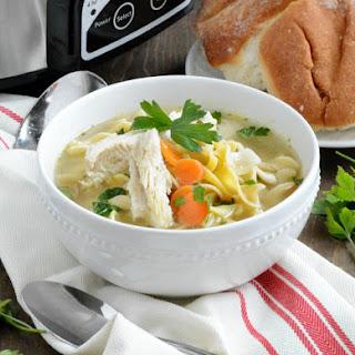 Easy Crock-Pot Chicken Noodle Soup.