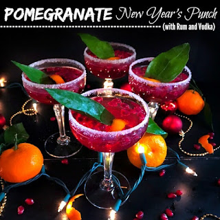 Pomegranate New Year's Punch (with Rum and Vodka).