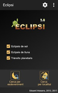 Eclipsi Calculator 2.0: miniatura de la captura de pantalla