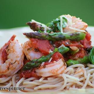 Shrimp Scampi with Asparagus.