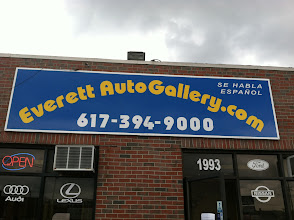 Photo: Everett Auto Gallery in Everett, MA proudly displaying their BBB Accreditation.
