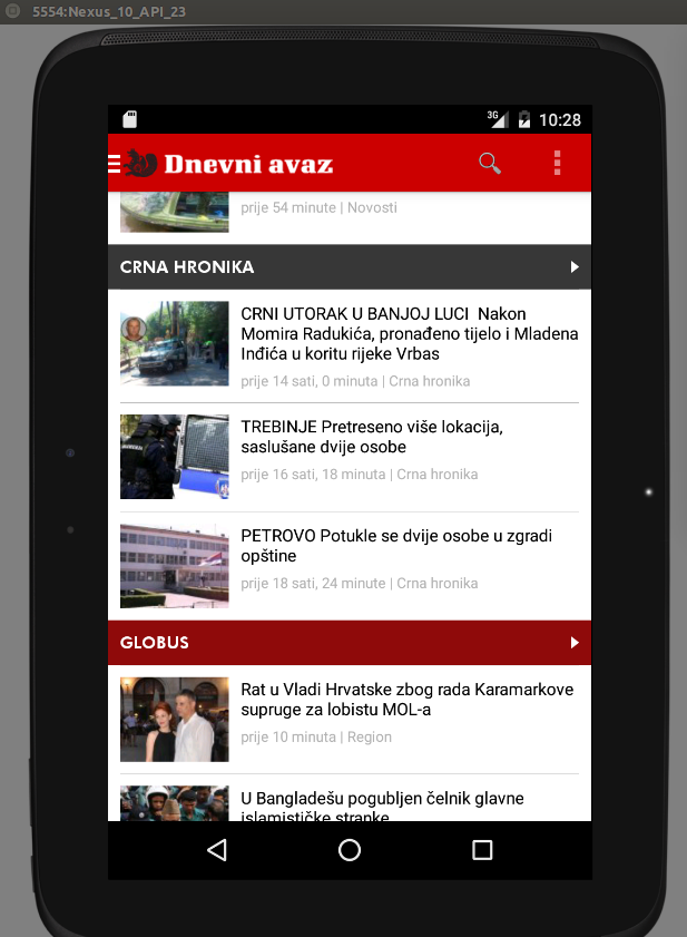 Dnevni avaz- screenshot