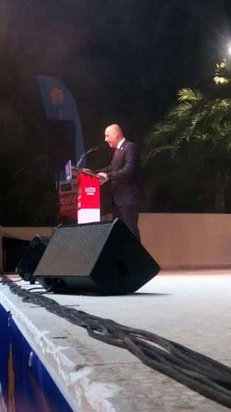 Intervención de Domingo Fernández, presidente de la Mancomunidad de Municipios.