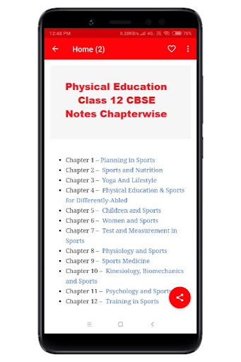 Physical Education Class 12 Notes CBSE by Techy Rajnish