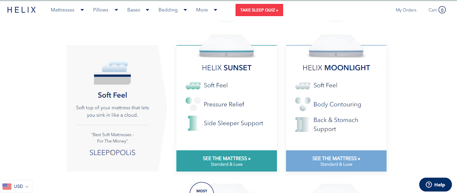 Heliz product page design