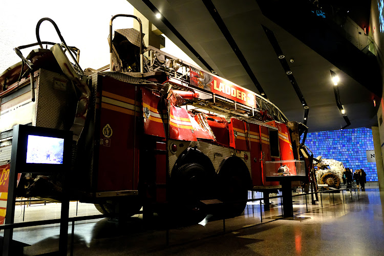 Ladder 3 NYFD fire truck in the 9/11 Memorial Museum