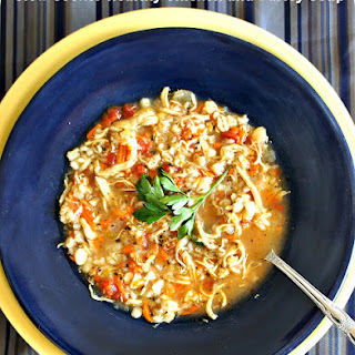 Recipe for Slow Cooker Healthy Chicken and Barley Soup.