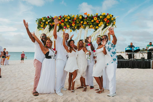 A scene from last year's vow renewal ceremony in Aruba