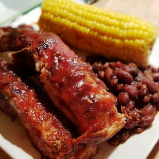 Pressure Cooker Homemade Carolina BBQ Pork Spare Ribs.