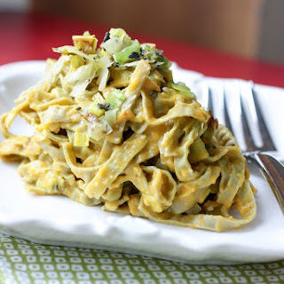 Leek and Pumpkin Fettuccine