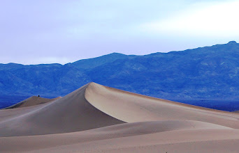 Photo: For scale, notice the person near the top of the left dune.