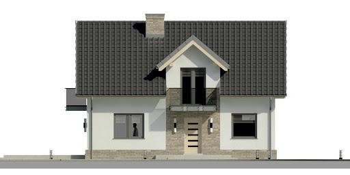 Dom przy Alabastrowej 20 N - Elewacja przednia