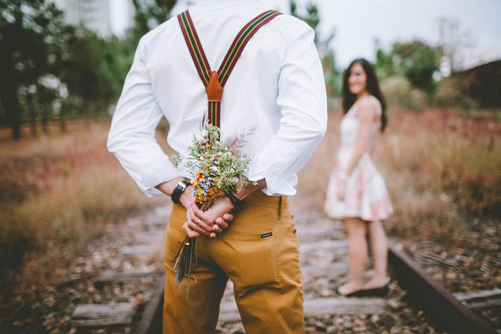 using flowers for a proposal