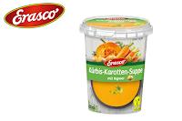 Angebot für Kürbis-Karotten-Suppe im Supermarkt