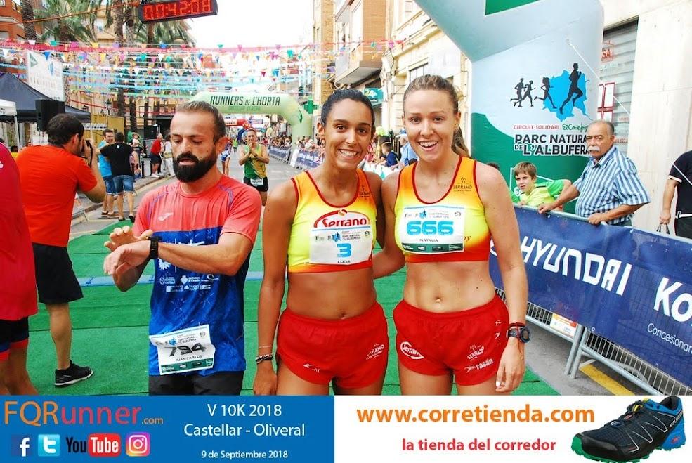 Lucia Maria Mocholi y Natalia Maria Mocholi del Serrano Club Atletismo