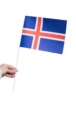 Pappersflagga, Island