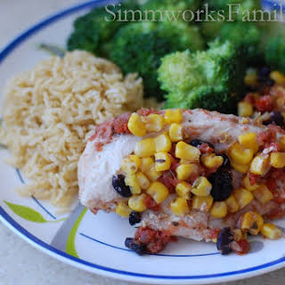 Crockpot Salsa Chicken.