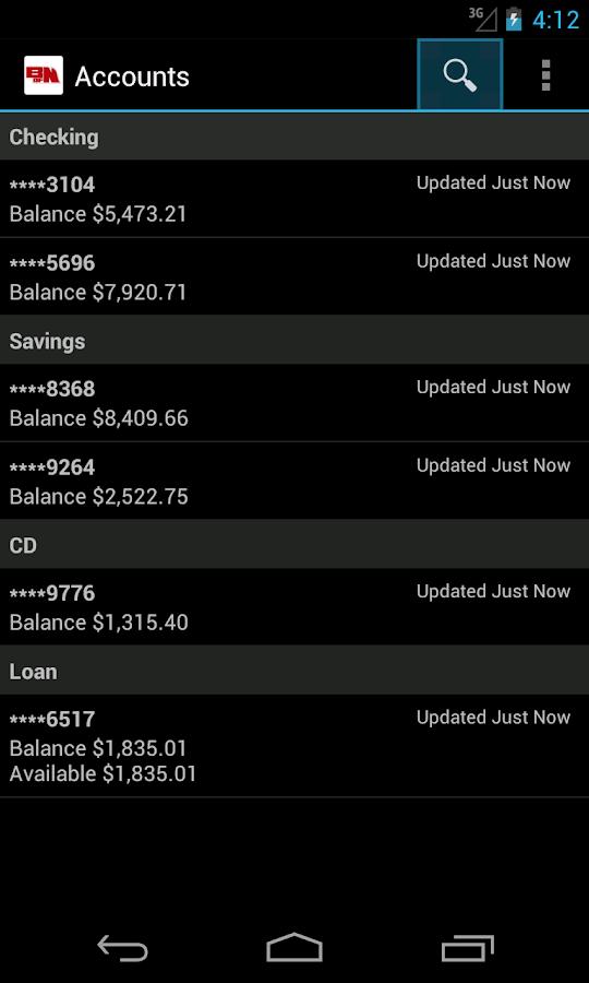 Bank of Nebraska Mobile- screenshot