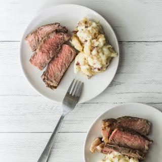 Bourbon Glazed Ribeye Steak.