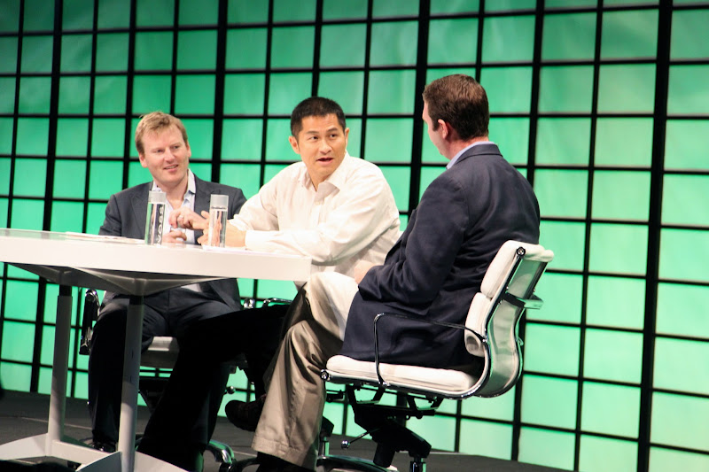 Photo: Yen Lee, President and Co-Founder, UpTake Networks Inc. and Chris Loughlin, CEO, Travelzoo Inc. with Tim O'Shaughnessy, CEO, LivingSocial