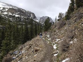 Photo: Glacier Gorge trail facing Taylor Mountain
