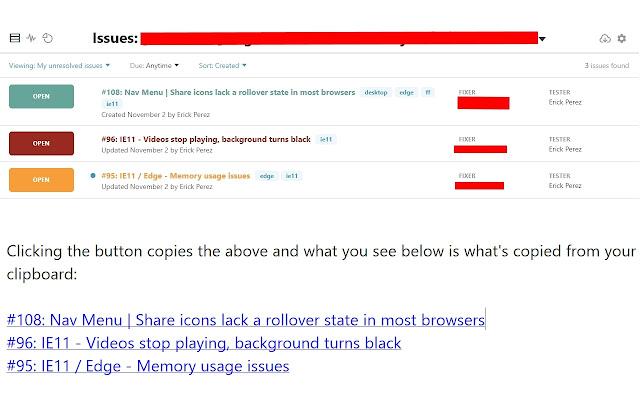 Bug Tracker Issue Copier