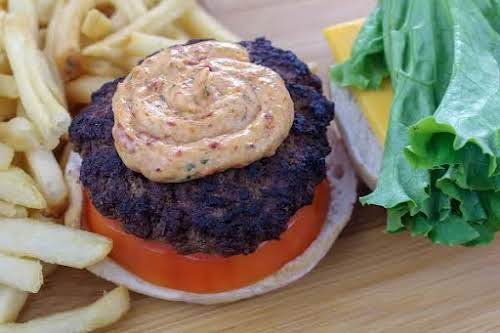 "Sun-Dried Tomato Basil Burger Sauce ""Ketchup and mustard can get boring on..."