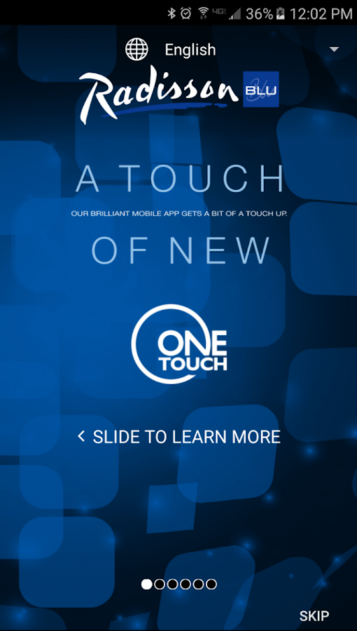 Radisson Blu One Touch- screenshot