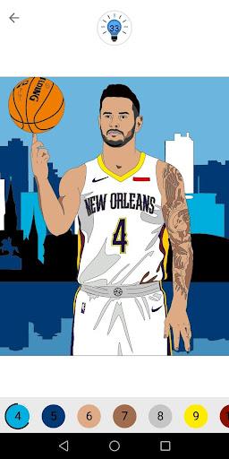Coloring Basketball screenshot 4