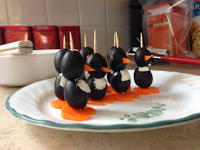 Photo: A little army of olive penguins!