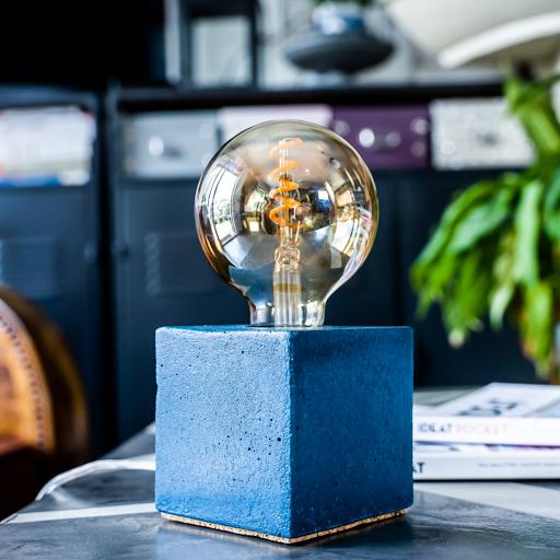 lampe béton cube