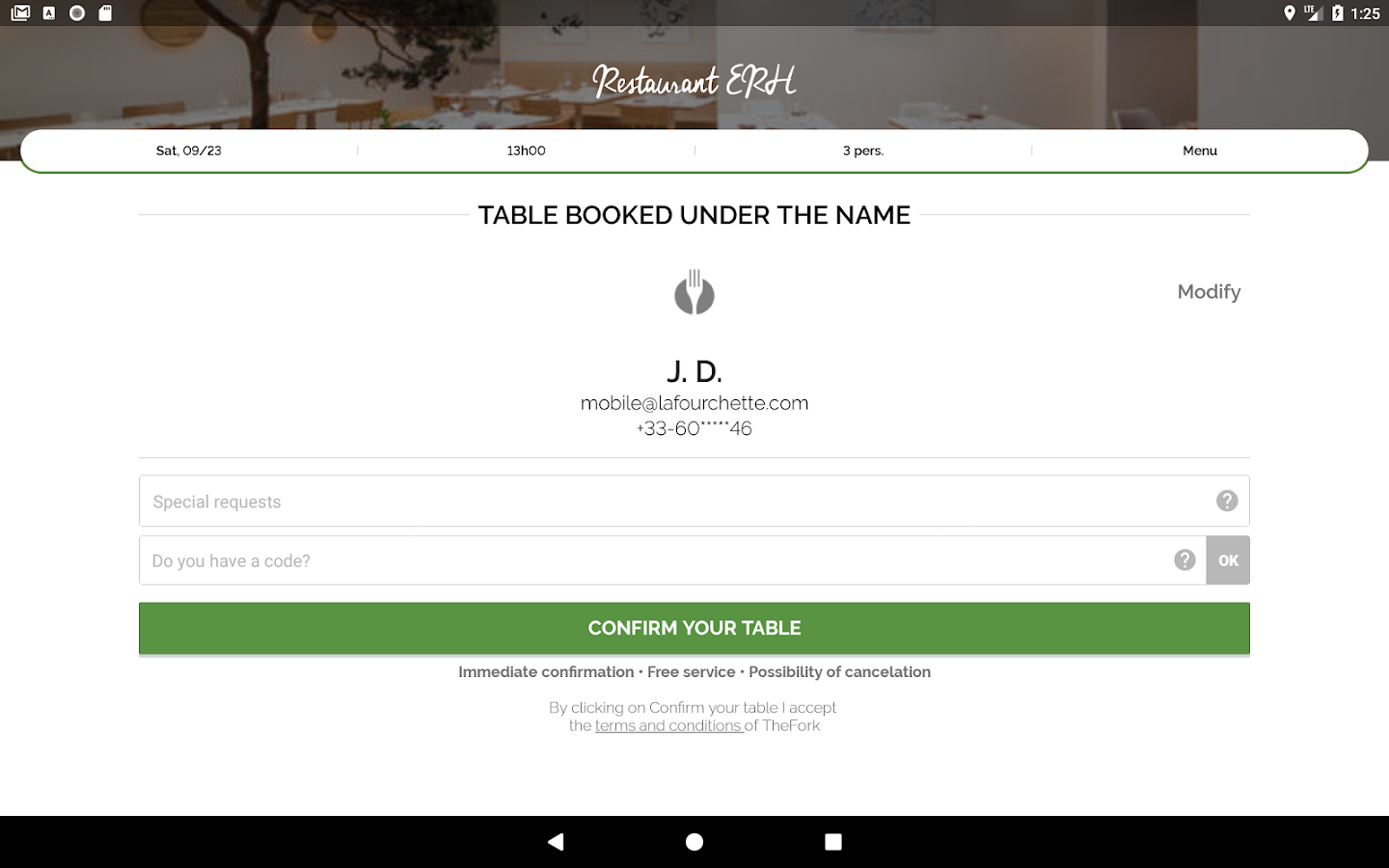 TheFork - Restaurants booking and special offers- screenshot
