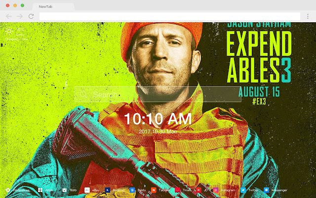 The Expendables 3 Movies New Tab HD Themes
