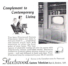 Photo: Yes, there were TVs with remote controls in 1956. Fleetwood was geared to the upscale market. The handheld remotes were attached to the TV by a wire.
