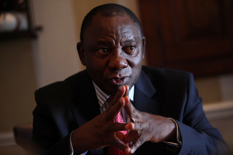 Ramaphosa will be delivering the keynote address at The Directors Event on June 8. Pic: ESA ALEXANDER