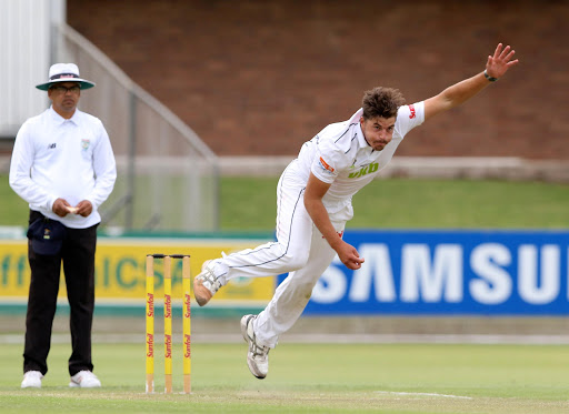 Marchant de Lange of VKB Knights during day 1 of the Sunfoil Series match between Warriors and VKB Knights at St Georges Park on November 03, 2016 in Port Elizabeth, South Africa.