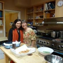 Photo: Emily and Sheryl -helpers to make pakoras .jpg