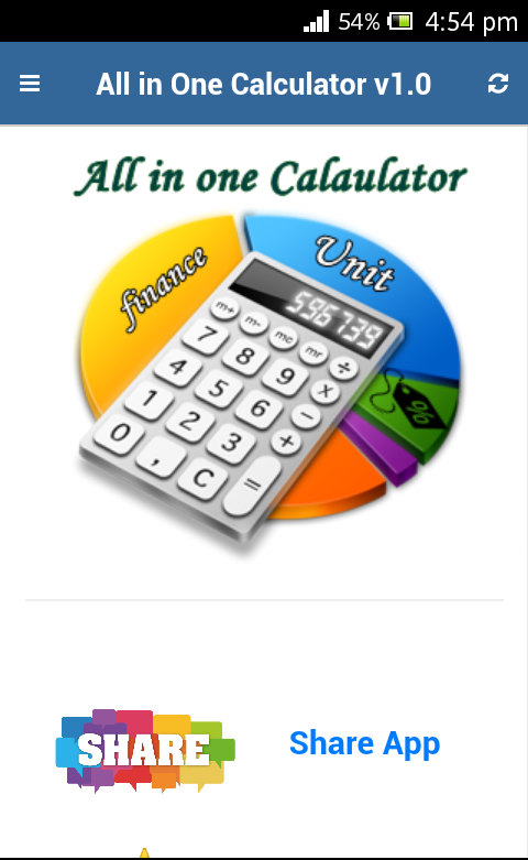 All in One Calculator- capture d'écran