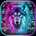 Neon Wolf New Keyboard Theme icon