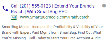 Call Ad Example