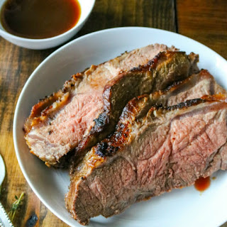 New York Strip Roast with Brandy Aus Jus