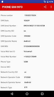SIM PHONE INFO - náhled