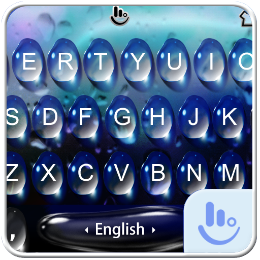 Live Blue Water Keyboard Theme