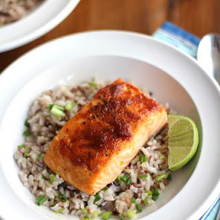 Red Curry Salmon with Coconut Brown Rice.