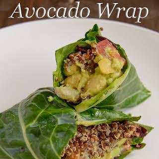 Chickpea Avocado Wrap.