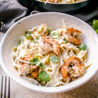 Creamy Shrimp Fettuccine Alfredo Recipe