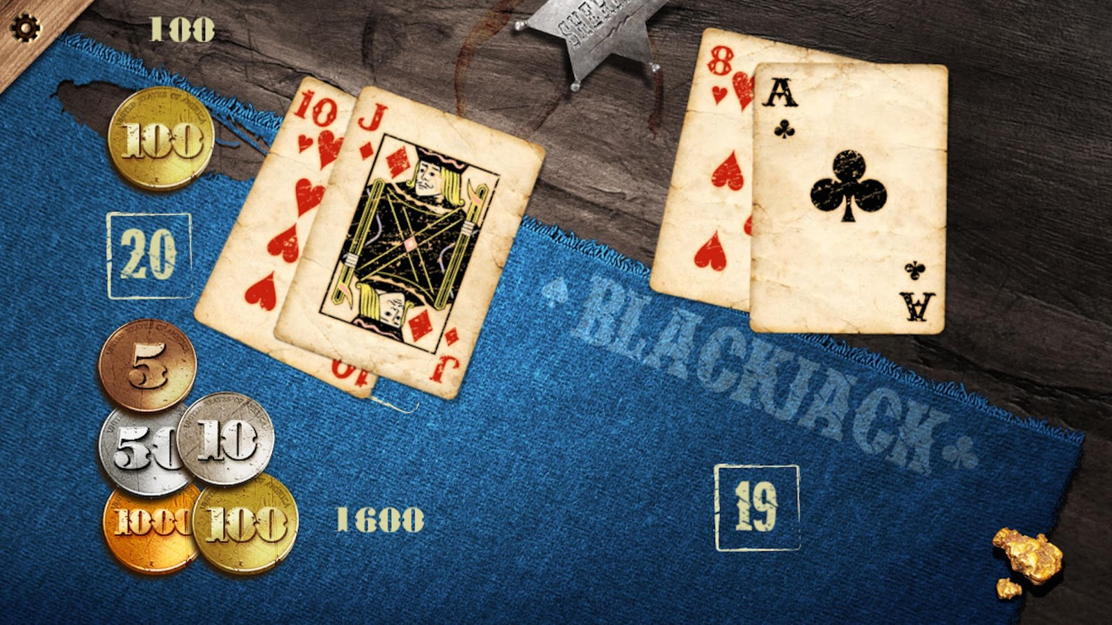 Gold Rush Blackjack- screenshot